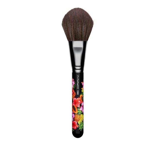 mac face brushes. 126 split fibre large face brush / fruity juicy mac brushes l