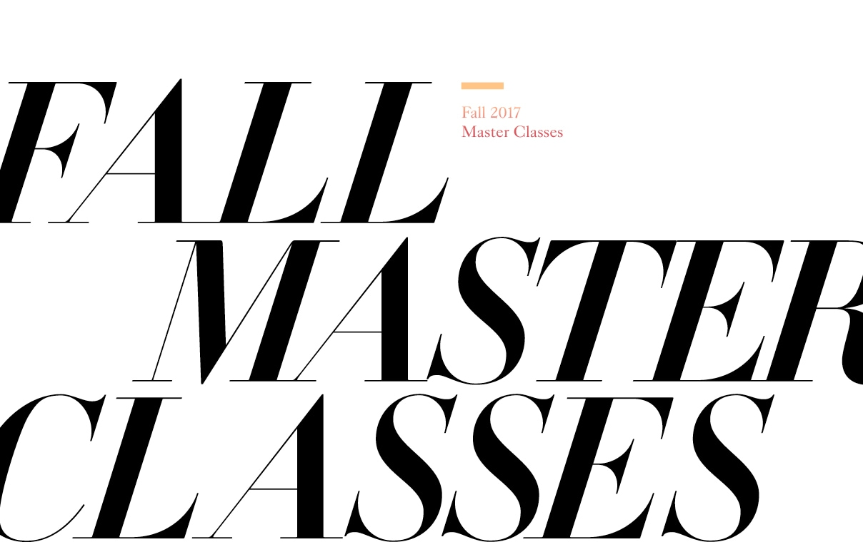 2017 Fall Master Classes